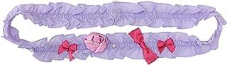 帯飾り ガールズ 帯バンド 花 リボン 真珠 ラベンダー ピンク N1493