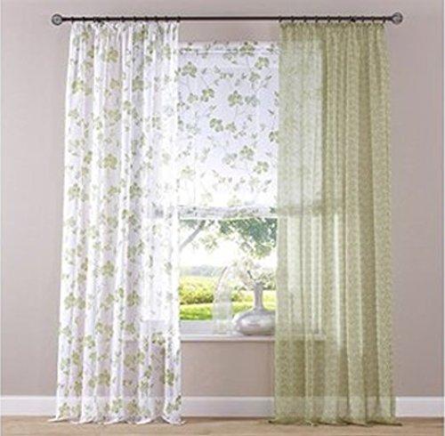 Heine Dekostore 135x220cm Vorhang Gardine Dekoschal Fenster Store Vorhänge grün