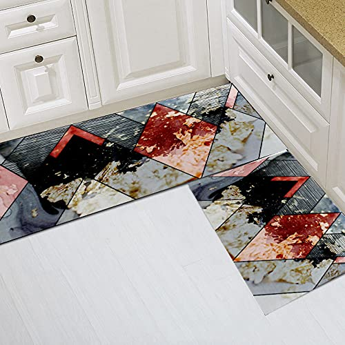SunYe Alfombras Geométricas Modernas Tapetes Rectangulares Una Variedad De Tamaños Disponibles Adecuados para Cocinas Y Hoteles Tapetes De Cocina Antideslizantes Engrosados Que Absorben El Agua