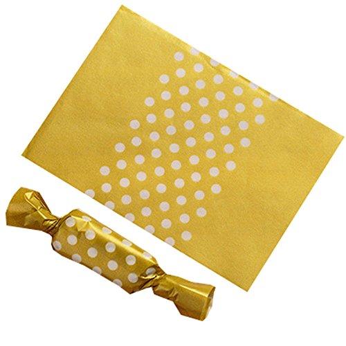 Blancho Bedding 500 Stück Süßigkeitenverpackungen Karamell Verpackungstüten Twisting-Wachspapier 9 x 12,5 cm, A4