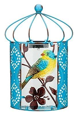 Regal Art & Gift 11628 Solar Bird Sconce Wall Decor, Blue