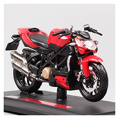 El Maquetas Coche Motocross Fantastico 1/18 para Ducati Street Bike Overlords miniatura simulación aleación modelo motocicleta colección en miniatura regalo coche juguete Regalos Juegos Mas Vendidos
