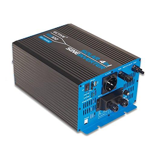 ECTIVE 1000W 12V zu 230V SSI-Serie Reiner Sinus Wechselrichter mit Ladegerät MPPT-Solarladeregler und NVS in 5 Varianten: 1000W - 3000W