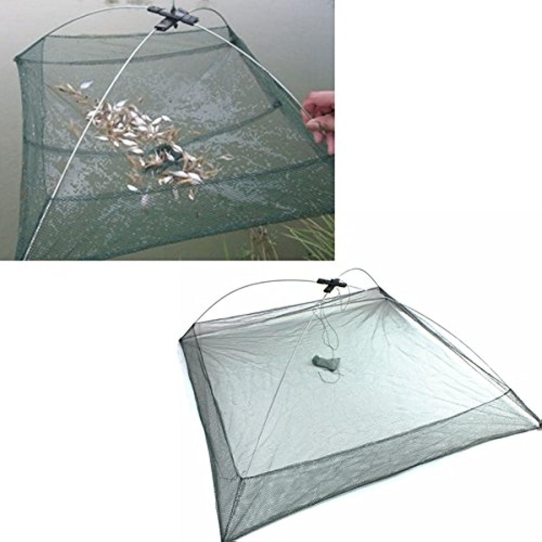 100X100cm Fishing Net Foldable Crawdad Fish Shrimp Fishpot Cage  Tools & Equipments  Nets & Buckets