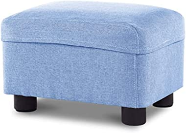 YSNRH Soft Foot Rest Stool/Square Linen Fabric Sofa Stool/Small Seat Modern Furniture with Washable Cover and Memory Foam for