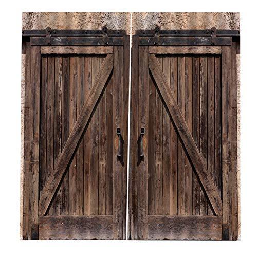 Wandisy 【𝐂𝐡𝐫𝐢𝐬𝐭𝐦𝐚𝐬 𝐆𝐢𝐟𝐭】 Puerta de Madera Estilo Ventana Blackout Cortina Completa Sombra(01# 150 * 166 cm)