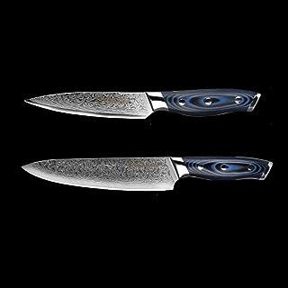 Couteau Damas Couteau Set 2 pcs Damas japonais en acier inoxydable VG10 chef de cuisine Couteaux de cuisine utilitaires Co...
