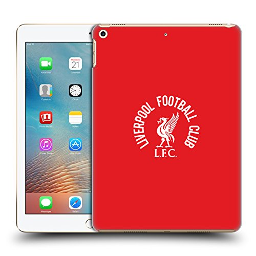 Official Liverpool Football Club White LFC On Red Liver Bird Hard Back Case Compatible for Apple iPad 9.7 2017 / iPad 9.7 2018