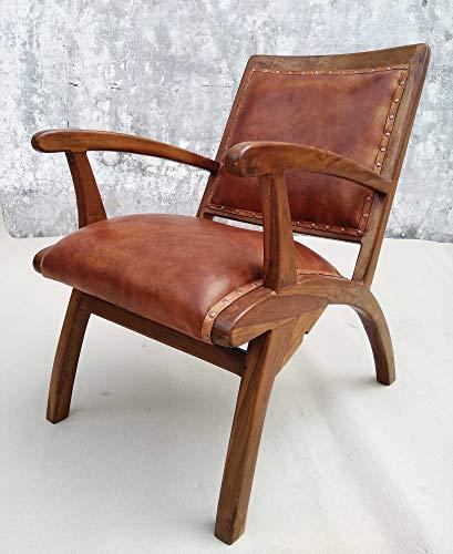 Echt Leder Farmer Sessel 60er 70er Design Vintage Lounge Mid Century Easy Retro