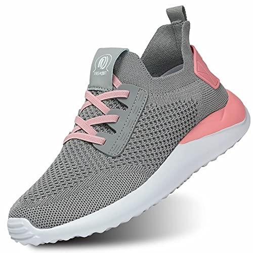 KEEZMZ Zapatillas de tenis para mujer, ligeras, casuales, para caminar, zapatos, rojo, 6