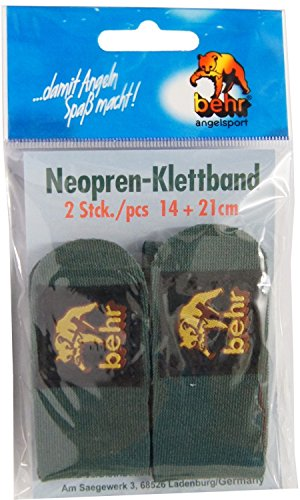 Behr néoprène Velcro Canne à pêche Bandes Velcro (Lot de 2), Canne Bandes Velcro,