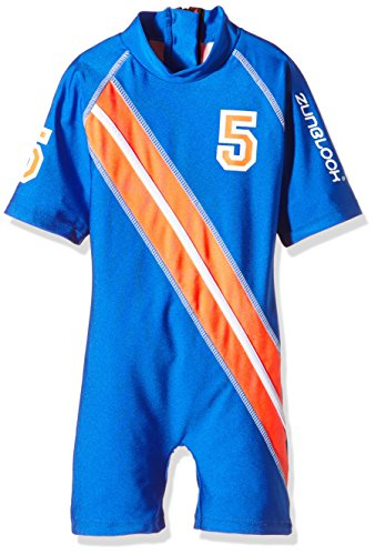Zunblock Jungen UV 50 Plus Anzug Stars and Stripes, Royal/Orange, 122/128