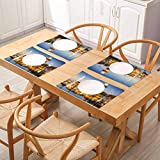 Tables Heat-Insulation Linen Kitchen Dining Pad, United States Hilton Head South Carolina Lightho, for Dining Kitchen Restaurant Table, Set of 8