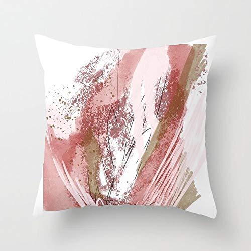PPMP Pintura Abstracta a Mano, Funda de Almohada geométrica, Funda de Almohada para el hogar, sofá, Funda de Almohada Decorativa, Funda de cojín A21 45x45cm 1pc