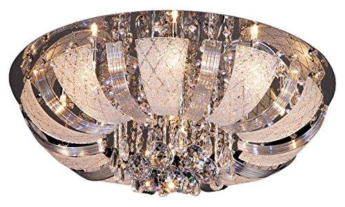 Lampex 173/10Odessa Plafond lampada, metallo, trasparente, G4