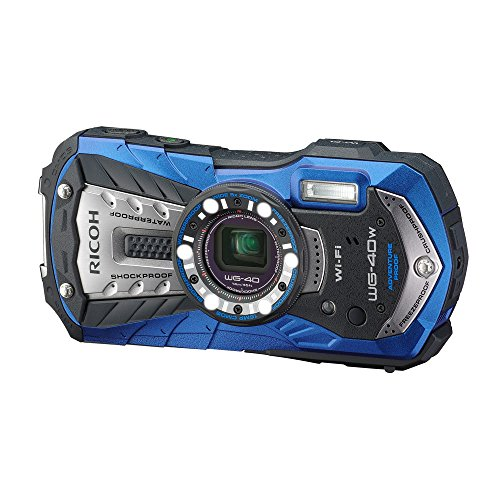 RICOH Waterproof digital camera RICOH WG-40 Blue (Japan Import-No Warranty)