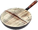 TINGFENG Wok Martillo de martillo de carbono de acero al carbono Pan sano menos aceitoso Humo Cocina Cocina Pot Metal Vajilla