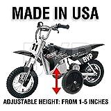 BYP_MFG_INC Adjustable Height Razor MX350 MX400 Kids Youth Training Wheels ONLY