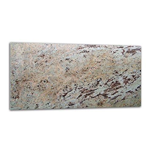decorwelt Panel trasero de cocina antisalpicaduras de cristal, 80 x 40 cm, protección de pared para cocina, protección contra salpicaduras, azulejos, espejo, textura de cristal beige