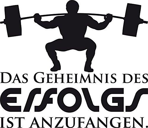 GRAZDesign Wandtattoo Das Geheimnis Wandsticker mit Motivationsspruch Sportler Motivation, Fitness, Fitnessraum (66x57cm // 070 schwarz)