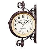 WUYANSE Retro Redondo Colgante de Pared Reloj de Pared...