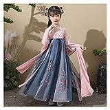 YUNGYE Disfraz de hada para niña de Hanfu chino lindo traje de princesa vestido elegante estilo primavera y otoño (color: estilo C, tamaño: 130 cm)