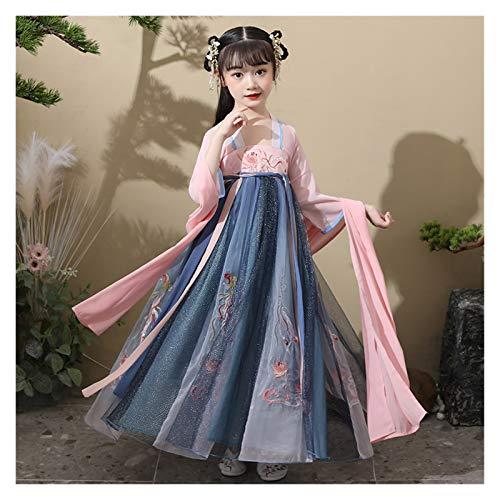 YUNGYE Disfraz de hada para nia de Hanfu chino lindo traje de princesa vestido elegante estilo primavera y otoo (color: estilo C, tamao: 130 cm)