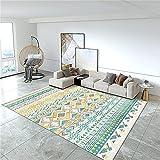 Alfombras Bebes Gateo Alfombra Bebe Habitacion Alfombra Infantil Azul Amarillo línea decoración Moderna Alfombra Sala de Estar Dormitorio Accesorios 60x90cm Carpet