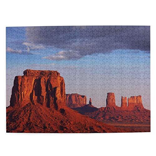 Rompecabezas de 500 Piezas,Monument Valley of Utah USA Arenisca Natural Environment,Rompecabezas de imágenes para niños, Adolescentes, Adultos,Divertido Juego de Alivio del estrés para Regalo