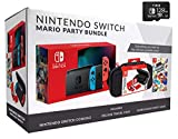 Nintendo Switch Bundle w/Mario Party, Carrying Case & SD Card: Nintendo Switch 32GB Console with Neon Red and Blue Joy-Con, Mario Party, Carrying Case & TWE 128 GB Micro SD Card
