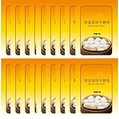 Keahup Bread Yeast, Active Dry Yeast High Glucose Tolerance Kitchen Baking Supplies 5g*40 bags