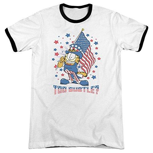 Garfield Das Subtile Wecker-T-Shirt der Männer, Small, White/Black