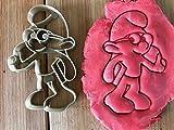 Kekstempel/Ausstechform für Kekse schlumpf mit Brille ca.8 cm