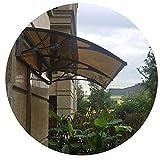Vordach Türdach Stille Selbstreinigung Vorderseite Back Porch Fenster-Farbton Polycarbonat braun