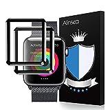 Alinsea 2 Stück für iWatch 42mm Bildschirmschutz Panzerglas Schutzfolie, Glas Bildschirmschutzfolie [9H Festigkeit] [Kristall-Klar] [Blasenfrei] für iWatch 42mm Series 1 /2 / 3, Sport, Edition, Nike+