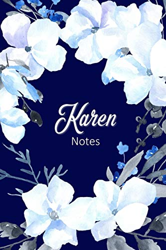 Karen Notes: Personalized Journal with Name with Feminine Interior