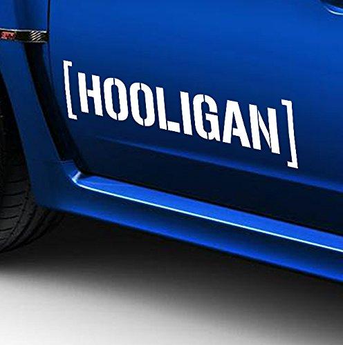 myrockshirt 2 x Hooligan Seitenstreifen 60 cm Aufkleber Sticker Auto Tunig Decal+ Estrellina-Montage-Rakel®,Estrellina-Glücksaufkl