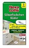 Nexa Lotte Silberfischchen-Köder, Hochwirksame Leimfalle zur Bekämpfung von Silberfischchen in allen Räumen, 3 Fallen