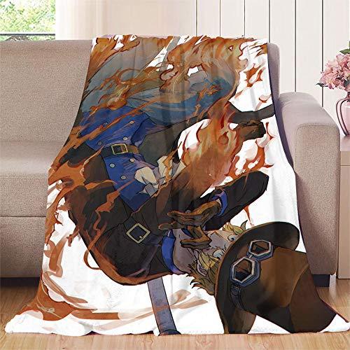 XavieraDoherty One Piece Anime Sabo Outdoor-Decke 150 x 200 cm (B x L), leicht, extra weich, antiallergen.