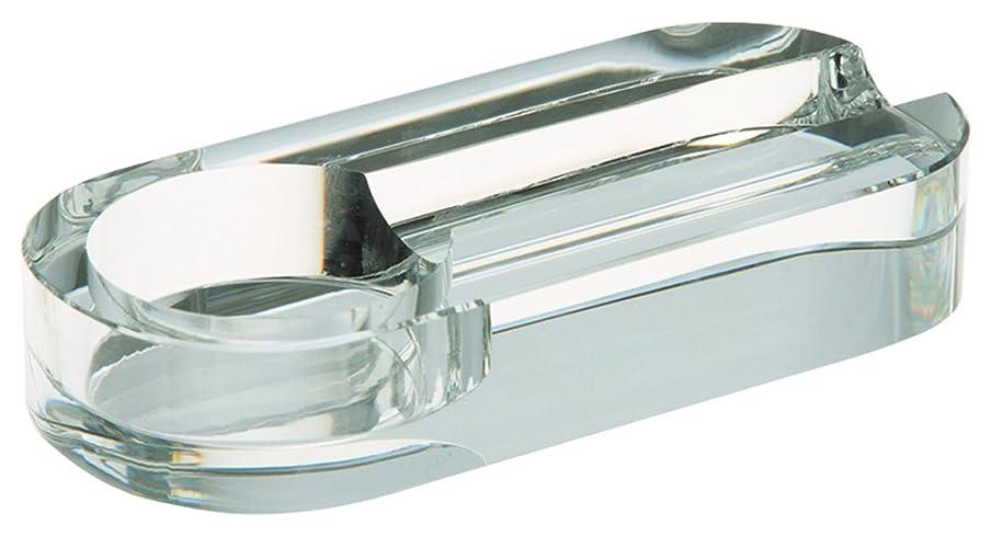 船員努力バランスのとれた柘製作所(tsuge) クリスタル灰皿 オーバルミラー1本用 #80430