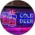 ADVPRO Cold Beer Bar Pub Club Décor Dual Color LED Neon Sign st6-i2069