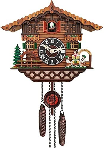 Antique Wooden Hanging Wall Clock Alarm Seasonal Wrap Introduction Swing New sales Pendulum Time Bell