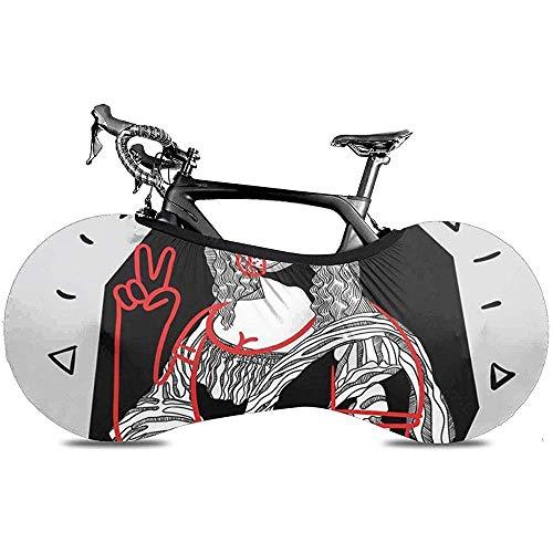 L.BAN Cubierta de Rueda de Bicicleta, neumático de Engranaje de protección - Bolsas de diseño de Lengua Italiana Folletos Mona Lisa Gioconda por Da Vinci Famous Sketch