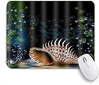 NIESIKKLAマウスパッド 海の下の黄金の海カタツムリ ゲーミング オフィス最適 高級感 おしゃれ 防水 耐久性が良い 滑り止めゴム底 ゲーミングなど適用 用ノートブックコンピュータマウスマット