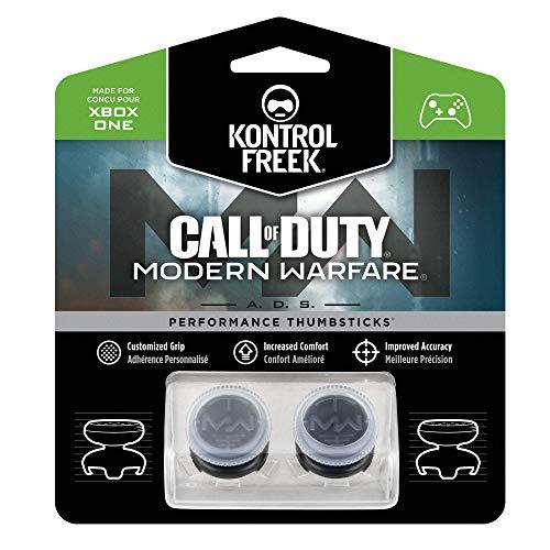 KontrolFreek Call of Duty: Modern Warfare - A.D.S. Joysticks Performance pour Manette for Xbox One Controller | 2 High-Rise, Concave | Transparent/Black