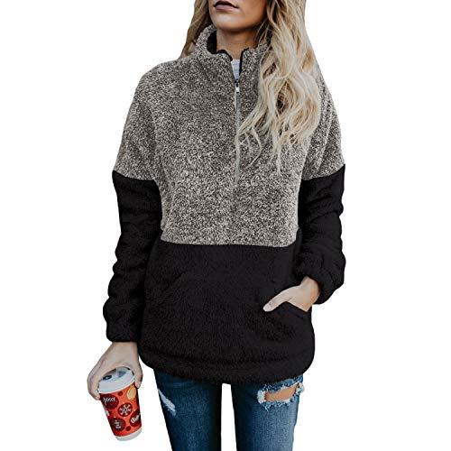 Jywmsc Mujer Sudadera Caliente y Esponjoso Tops Chaqueta Suéter Abrigo Jersey Mujer Otoño-Invierno Talla Grande Sudadera Sudadera con Capucha