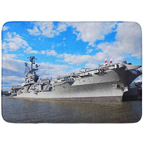 Paillasson Bienvenue 60X40Cm New York City Nov Intrepid Museum à Hudson Shore Le 10 Novembre à Manhattan USS est l'un des 24Sex