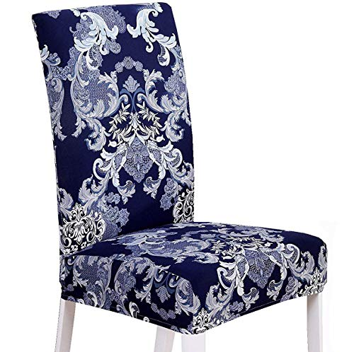 XNN Modern Stretch Dining Chair Covers Removable Washable Spandex Slipcovers for High Chairs 4/6 PCS Chair Protective Covers (Q, 4PCS/Set)