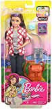 Barbie Travel Skipper Doll, Brunette with Purple Streak, with 4 Accessories Including A Camera and Backpack, for 3 to 7 Year Olds