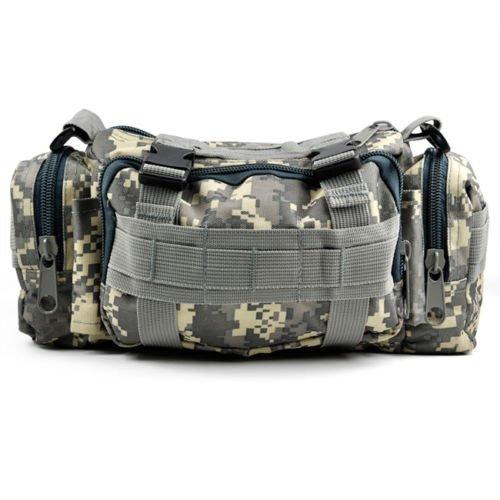 Sonline Tactique Camping Randonnee Trekking de Velo Sport Militaire Bum armee Voyage sac de taille - Camouflage